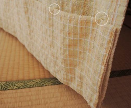 縫ったカーテン